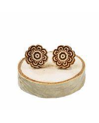 Leseni uhani Mandala roža