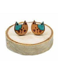 ročno izdelani leseni uhančki