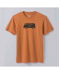 prAna Will Travel Journeyman kratka majica iz organskega bombaža